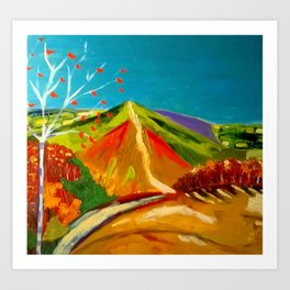 North Hill  Malvern in Autumn Art Print