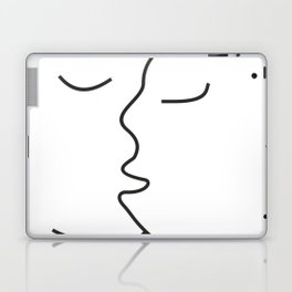 Minimalist Line Drawing Kiss Canvas Laptop & iPad Skin