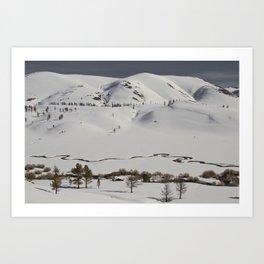 Mammoth Winter Wonderland Art Print