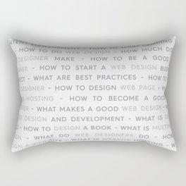 Web Design Keywords Poster. Grey. Rectangular Pillow
