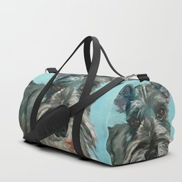 Schnauzer Dog Portrait Duffle Bag