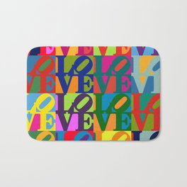 Love Pop Art Bath Mat
