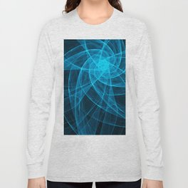 Tulles Star Computer Art in Blue Long Sleeve T-shirt