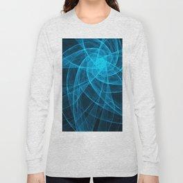 Tulles Star Computer Art in Blue Long Sleeve T-shirt