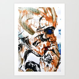 Abstract 97 - Tribal Face Art Print