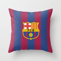 barcelona Throw Pillows featuring Barcelona by Kesen