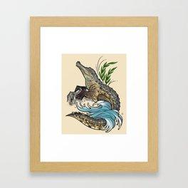 Orinoco Crocodile Framed Art Print