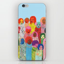 All the People iPhone Skin