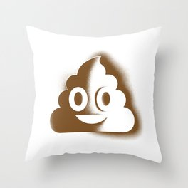 A Room with a Poop Throw Pillow