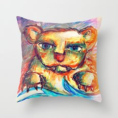 Sketchy Bear Throw Pillow