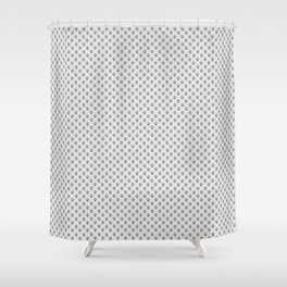 Tiny Paw Prints - Grey on Light Silver Grey Shower Curtain