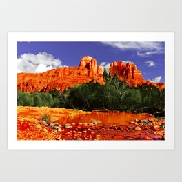 Cathedral Rock in Red Rock State Park Arizona Art Print