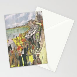 Les Sables d'Olonne - La Plage 1933 Stationery Cards