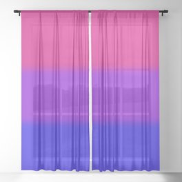 Bisexual Pride Flag Sheer Curtain