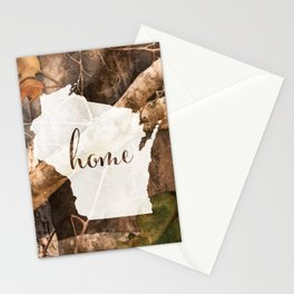Wisconsin is Home - Camo Stationery Cards