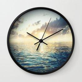 Bright Blue Horizons Wall Clock