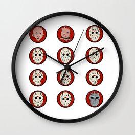 Jason Voorhees Mask Progression Wall Clock