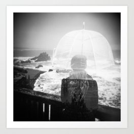 Waiting for the Rain - Oregon Coast Holga Double Exposure Art Print