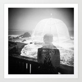 Waiting for the Rain - Oregon Coast Holga Double Exposure Art Print