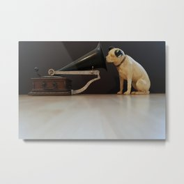 Nipper is listening-His Master's Voice Metal Print