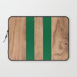Wood Grain Stripes - Green #319 Laptop Sleeve