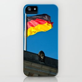 the flag of Germany iPhone Case
