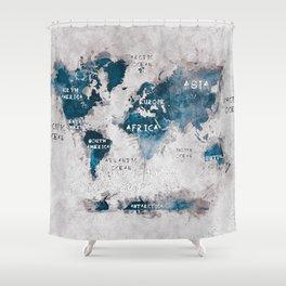world map 13 #worldmap #map #world Shower Curtain