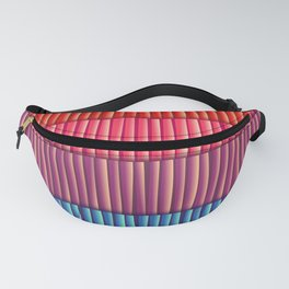Abstract Colorful Decorative 3D Striped Pattern Fanny Pack