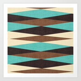 Harar in Teal Multi Art Print