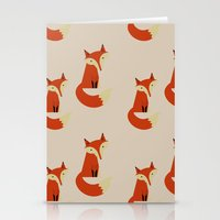 foxes Stationery Cards featuring Foxes by Zen and Chic