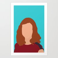 himym Art Prints featuring Lily Aldrin HIMYM by Rosaura Grant