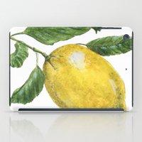 lemon iPad Cases featuring Lemon by Trinity Mitchell
