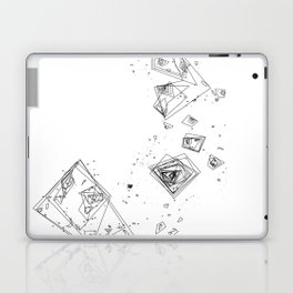 Mountain Vertices, Mt. Shasta, Black Geometric Laptop & iPad Skin