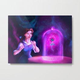 The Enchanted Rose Metal Print