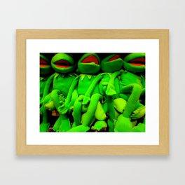 Kermits Sans  Eyes Framed Art Print