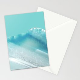 Geode Crystal Turquoise Blue Stationery Cards