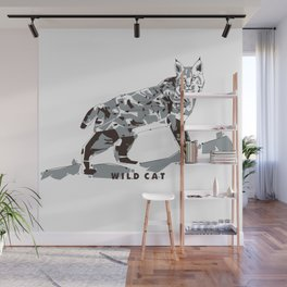 Wild Cat Wall Mural