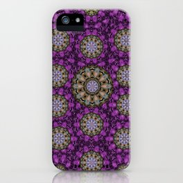 ornate heavy metal stars in decorative bloom iPhone Case