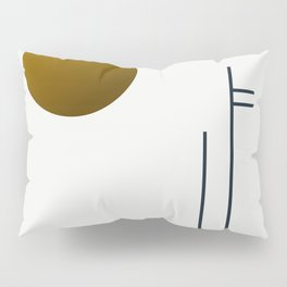 Soir 05 // ABSTRACT GEOMETRY MINIMALIST ILLUSTRATION Pillow Sham