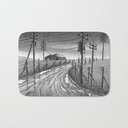 Muddy roads Bath Mat