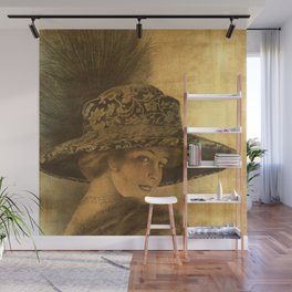 Golden victorian lady Wall Mural