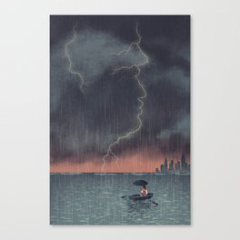 Trump and Climate Change Canvas Print