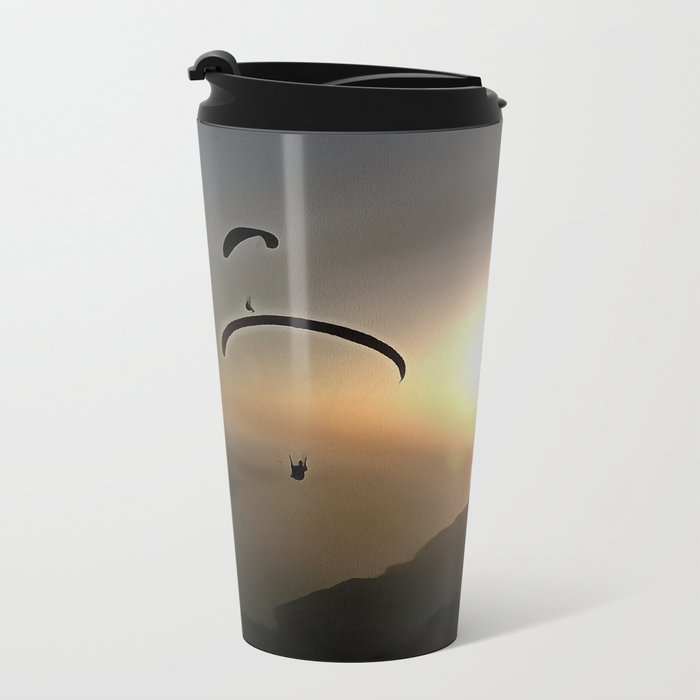 Paragliders Flying Without Wings Metal Travel Mug