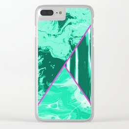 Mixed Marble Stone - Visual Decorative Graphic Design V.1 Clear iPhone Case