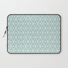 Trendy Elegant Modern Trellis Pattern Laptop Sleeve