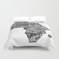 africa Duvet Covers featuring Africa by Sol Fernandez