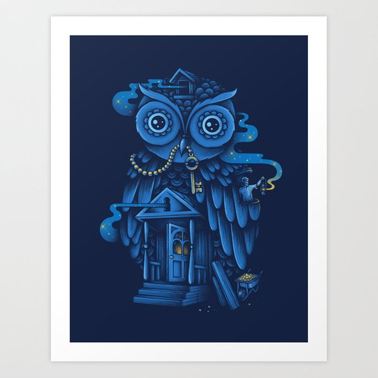 Guardian of the Night Art Print