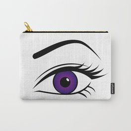 Violet Left Eye Carry-All Pouch