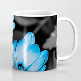 Aqua blue flowers Coffee Mug