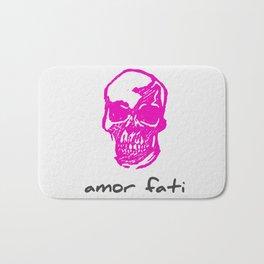 Amor Fati: Pink Skull Bath Mat
